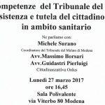 LE COMPETENZE DEL TRIBUNALE DEL MALATO NELL'ASSISTENZA E TUTELA DEL CITTADINI PAZIENTE IN AMBITO SANITARIO