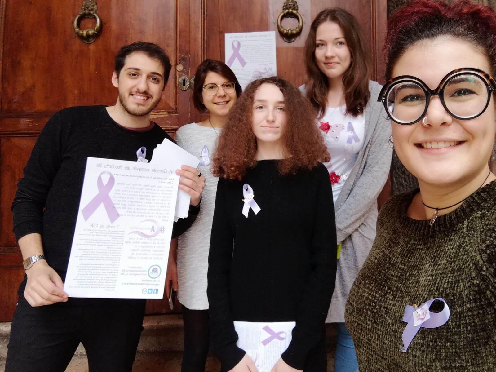 Giornata fiocchetto lilla 2018 Cittadinanzattiva Bologna