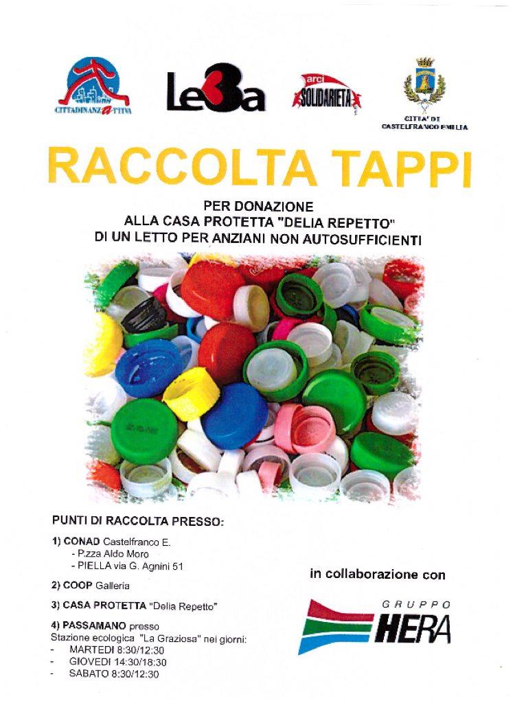 Castelfranco Emilia raccolta solidale tappi